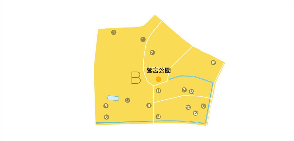 物資等協力企業マップ ブロックB