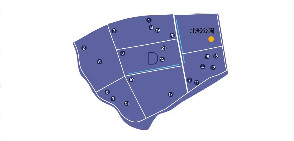 物資等協力企業マップ ブロックD