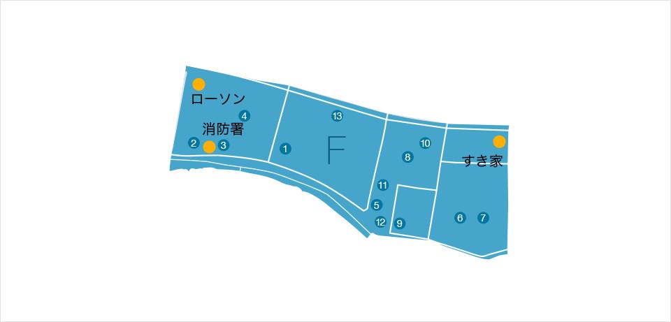物資等協力企業マップ ブロックF